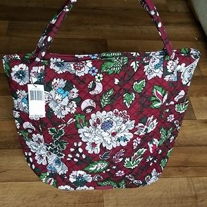 Vera Bradley Bright Tote Bordeaux Blooms